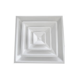 4-Way Square Diffusers with Damper in Ral9016 or Ral9010 pictures & photos
