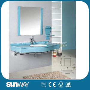 Elegant Design Modern Style Wall Mounted Mirrored Blue Bathroom Glass Vessel pictures & photos