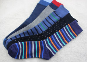 Men′s Cotton Socks with Stripe