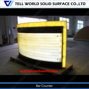 Illuminated Custom Made Fast Food Restaurant LED Bar Counter pictures & photos
