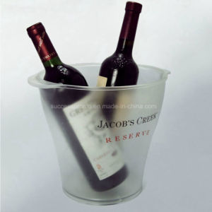 Custom Frosted Plastic Ice Bucket pictures & photos