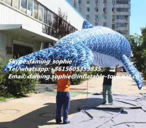 Inflatable Camouflage Color Whale for Party Decoration