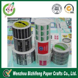 Plastic and Paper Roll Sticker