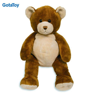 Custom Plush Dark Brown Teddy Bear with Big Belly pictures & photos