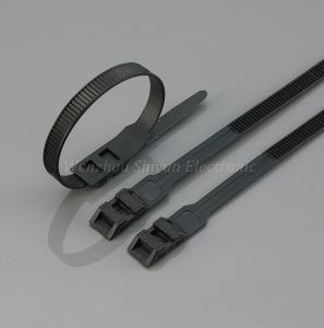 Double Locking Cable Ties 7′′ UV Black pictures & photos