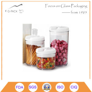 Heat-Resistant Borosilicate Glass Jars with Plastic Seal/Glass Storage Jar pictures & photos