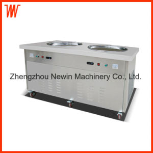 Two Flat Pan Fry Ice Cream Machine pictures & photos