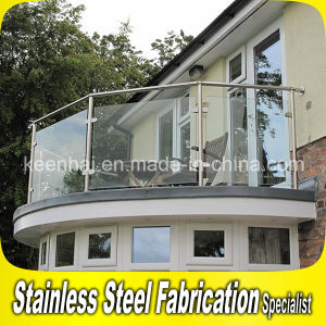 304 Stainless Steel Handrail Clear Glass Balcony Balustrade pictures & photos