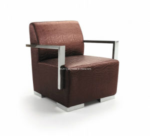 Home Furniture Leisure Chair with Stainless Steel Shelf pictures & photos
