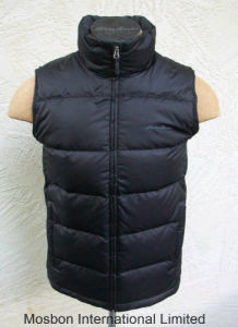 Mens Classic Down Vest Deep Black Jacket pictures & photos