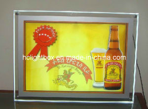 LED Slim Acrylic Crystal Light Box with Screws pictures & photos