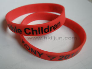 Silicone Rubber Bracelet with Printng Logo