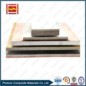 C11000 T2 Copper Q345D Steel Clad Plate with Explosion Welding Process pictures & photos
