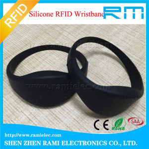 125kHz&13.56MHz Smart RFID NFC Silicone Wristband/Bracelet with Printing pictures & photos