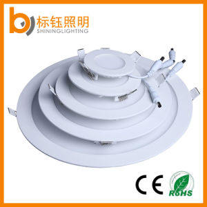 24W Round Indoor LED Interior Lighting 300mm Ultrathin Panel Ceiling Light (90lm/W, CRI>85, PF>0.9, CE/RoHS) pictures & photos