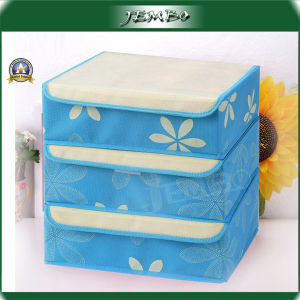 Non Woven Foldable Colorful Reusable Storage Boxes with Cover pictures & photos