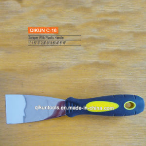 C-16 Plastic Handle Mirror Polished Stainless Steel Scraper
