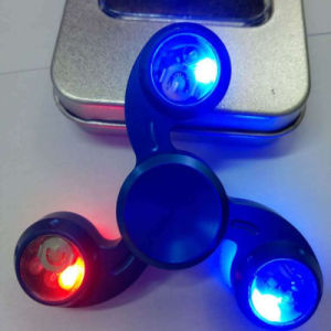 Hurricane LED Flashing Aluminum Alloy Fidget Hand Finger Tri-Spinners pictures & photos