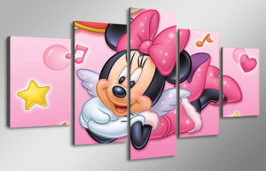 HD Printed Cartoon Minnie Mouse Painting Wall Art Canvas Print Room Decor Print Poster Picture Canvas Mc-079 pictures & photos