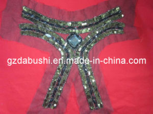 Sequin Beads Women Collar Motif on Mash