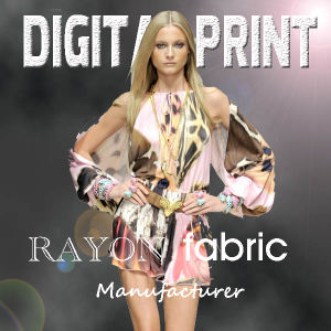 High Quality Printed Rayon for Garment Fabric pictures & photos