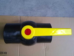 Factory Selling PVC Compact Ball Valve with Yellow Handle pictures & photos