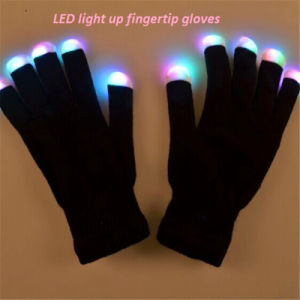 LED Lighted up Glowing Flashing Rave Fingertip Gloves pictures & photos