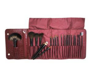 22PCS Professional Makeup Cosmetic Brush with Red Crocodile Pattern Pouch pictures & photos