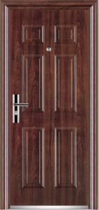 PVC Surface Steel Door (YF-SP09) pictures & photos