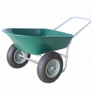 Wheelbarrow with Powder Coating, Plasticf Tray