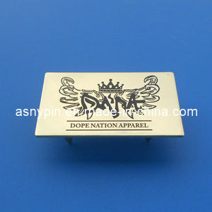 Apparel Gold Metal Logo Tags, Brass Name Tag for Leather Bag pictures & photos