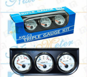 Auto and Truck Magnetic Triple Display Gauge pictures & photos