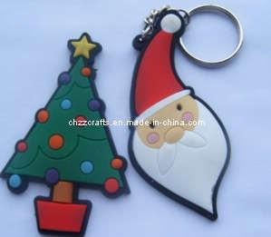 Plastic Keychain (Christmas Man)