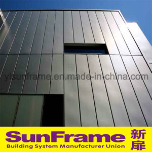 Aluminium Curtain Wall with Vertical Composite Panel pictures & photos