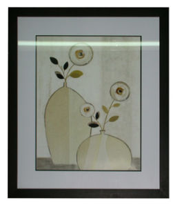 Framed Art Print Canvas Oil Painting - Floral