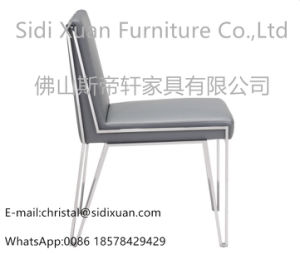 New Modern Hot Fashion Stainless Steel PU Cover Luxury Dining Chair pictures & photos