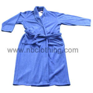 Ladies 100% Polyester Polar Fleece Plain Colour Bathrobe