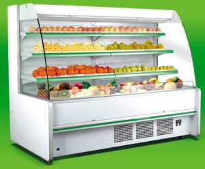 Vertical Fruit Display Refrigerator Chiller for Supermarket pictures & photos