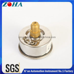 En837-1 Oil Filled Miniature Manometers with Ss Case Brass Back Connector High Quality pictures & photos