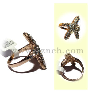 Fashion Design Gold Plated Finger Ring as Present