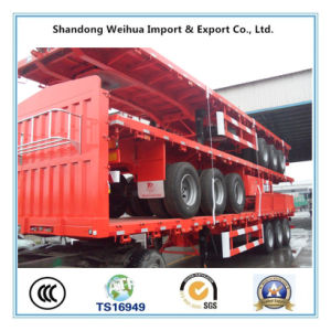 Livestock Fence Trailer, Side Wall Semi Trailer Exported to Mongolia pictures & photos