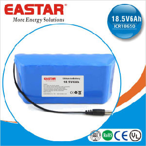 18.5V 6ah Icr18650 Li Ion Battery Pack for Christmas Lights and Eelectric Vehicle pictures & photos