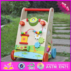 2016 Wholesale Multi Activity Center Wooden Baby Push Walker, Outdoor Interesting Toy Wooden Baby Push Walker W16e061 pictures & photos