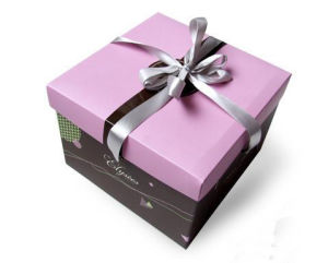 New Design Decorative Paper Gift Box with Ribbon (YY-B0100) pictures & photos