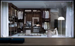 Modern Style Wooden Closet for Bedroom