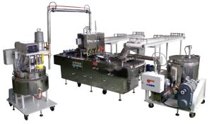 Four-Row Biscuit Sandwiching Machine with Double Deposit Fillings (MM-823) pictures & photos