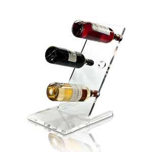 Free Standing Clear Acrylic Display for Wine Holder pictures & photos