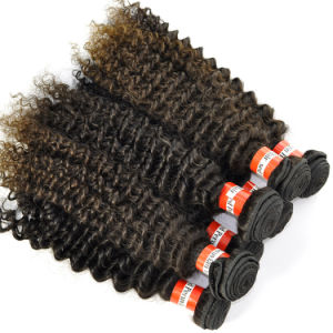 Grade 5A Peruvian Virgin Hair Extensions Kinky Curly Hair Weft pictures & photos