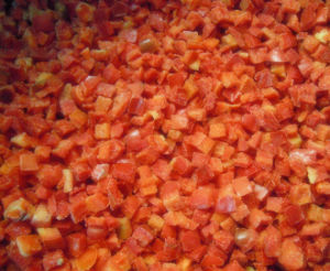 Frozen IQF Red Bell Pepper Dices pictures & photos