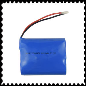 Rechargeable High Quality Lithium Battery 11.1V 2200mAh pictures & photos